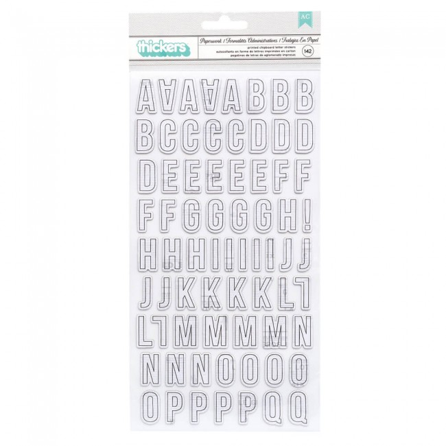 Thickers Let's Wander Vicki Boutin Paperwork Alphabet Cardstock