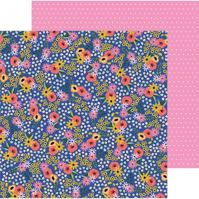 Papel Estampado Doble Cara 12x12 Hey. Hello! Jen Hadfield Flower Patch