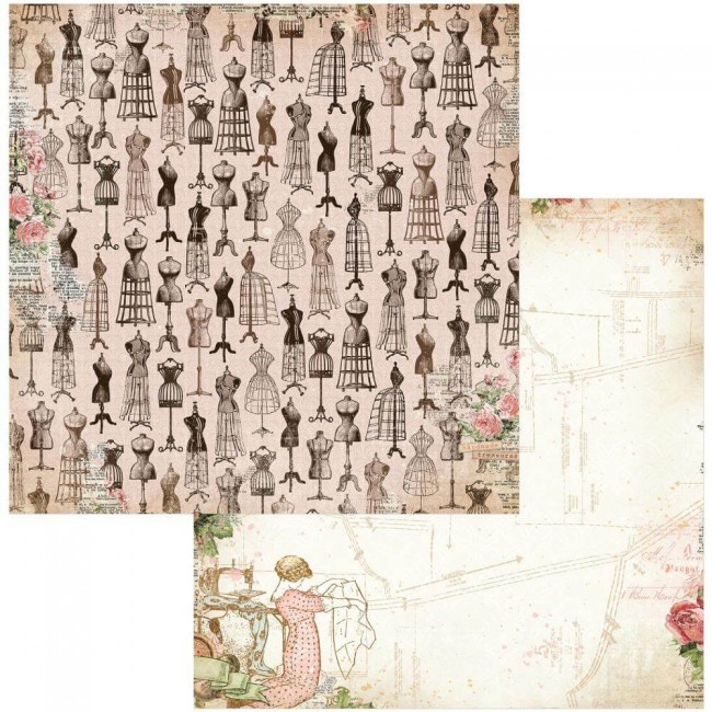 Papel Estampado Doble Cara 12x12 Family Heirlooms Keepsakes