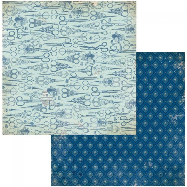 Papel Estampado Doble Cara 12x12 Family Heirlooms
