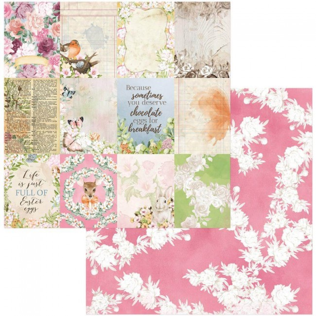 Papel Estampado Doble Cara 12x12 Garden Grove Adorable
