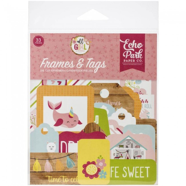 Die Cuts All Girl Frames & Tags