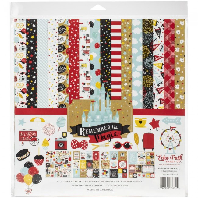Kit Papeles Estampados 12x12 Remember The Magic