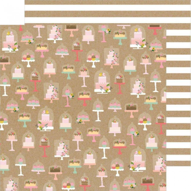 Papel Estampado Doble Cara 12x12 Lovely Moments Just Dessert