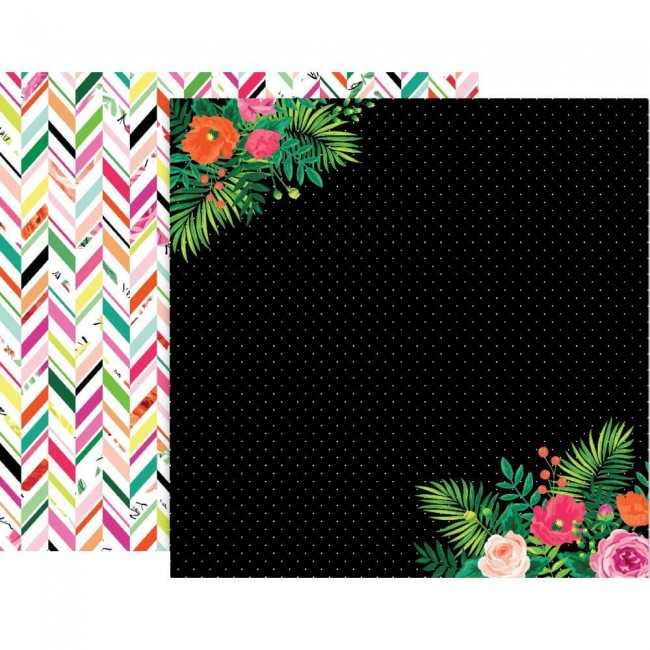 Papel Estampado Doble Cara 12x12 5th & Monaco #5