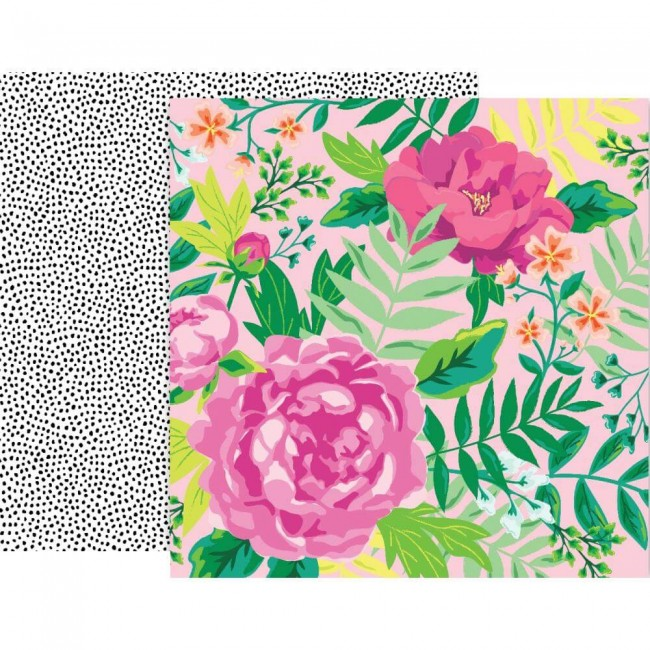 Papel Estampado Doble Cara 12x12 5th & Monaco #10