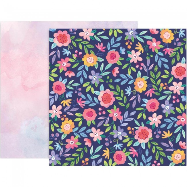 Papel Estampado Doble Cara 12x12 Bloom Street Paige Evans #2