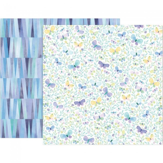 Papel Estampado Doble Cara 12x12 Bloom Street Paige Evans #8