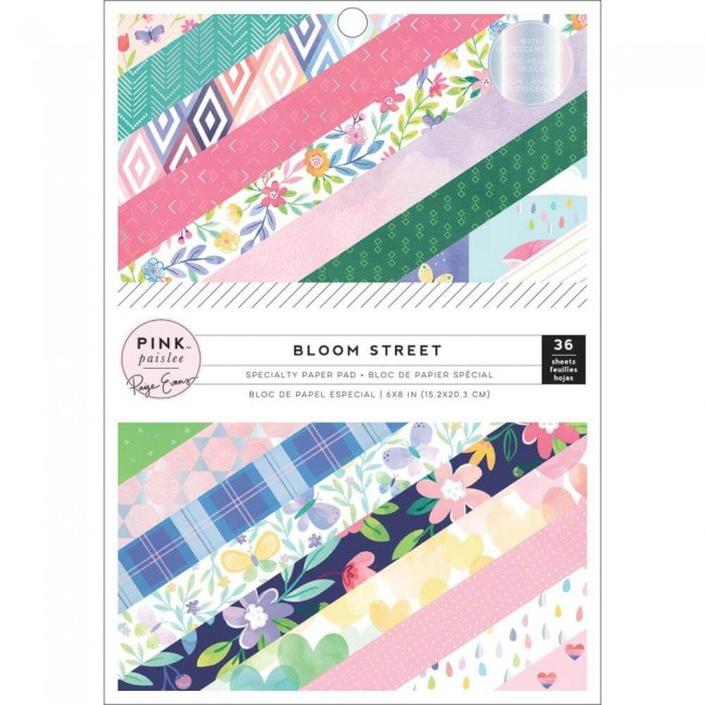 Stack Papeles Estampados 6x8 Una cara Bloom Street