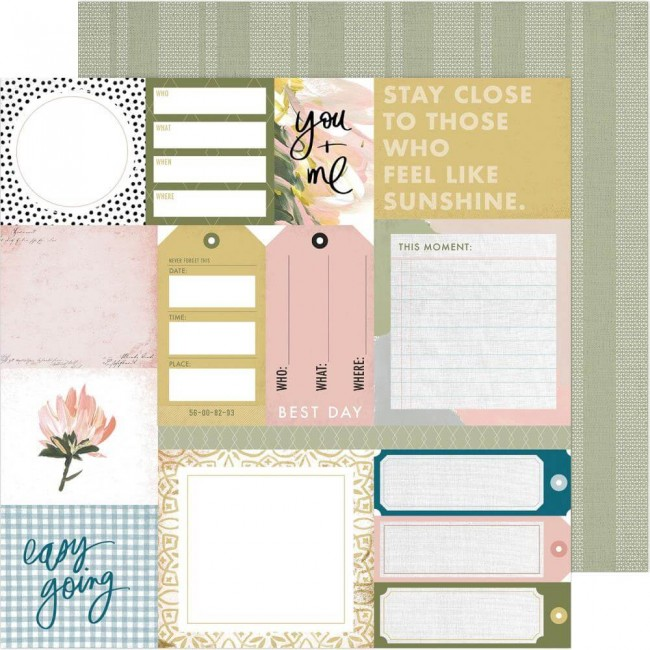 Papel Estampado Doble Cara 12x12 Storyline Everyday