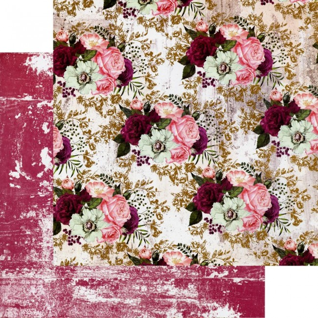 Papel Estampado Doble Cara 12x12 Pretty Mosaic Lovely Clusters
