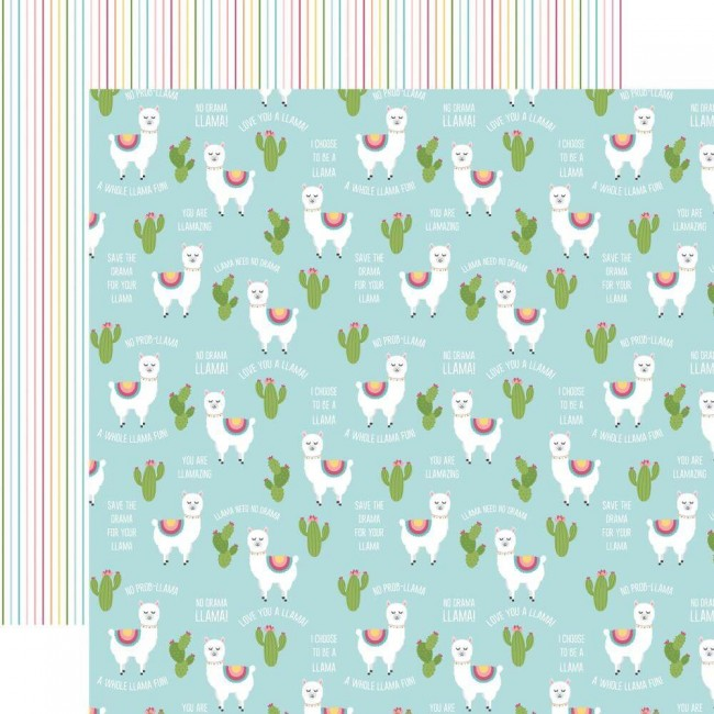 Papel Estampado Doble Cara 12x12 All Girl No Prob-Llama