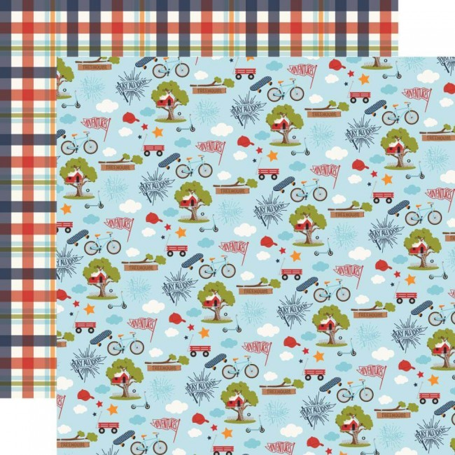 Papel Estampado Doble Cara 12x12 All Boy Play All Day