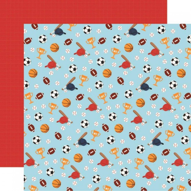 Papel Estampado Doble Cara 12x12 All Boy All Star