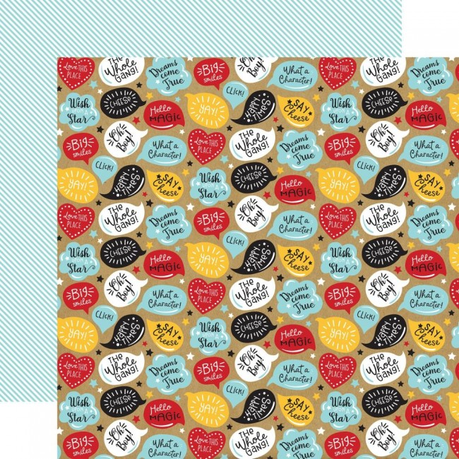 Papel Estampado Doble Cara 12x12 Remember The Magic Happy Times