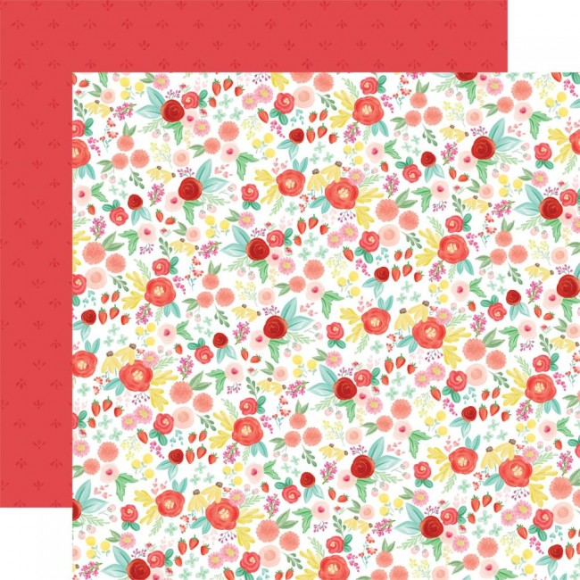 Papel Estampado Doble Cara 12x12 Summer Market Best Summer Floral