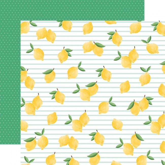 Papel Estampado Doble Cara 12x12 Summer Market Lovely Lemons