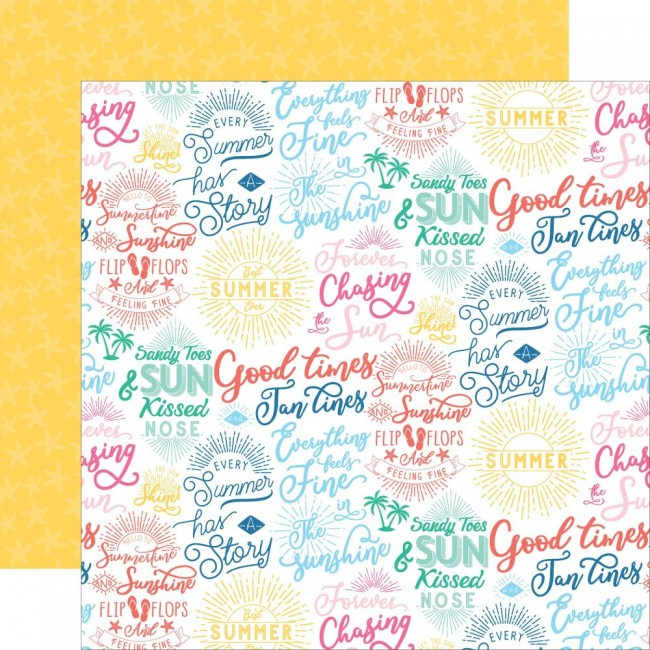 Papel Estampado Doble Cara 12x12 Dive Into Summer Good Times