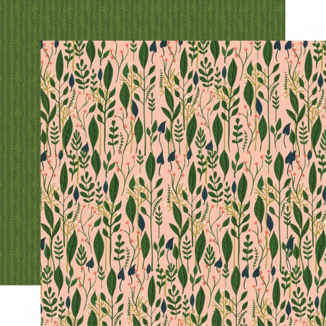 Papel Estampado Doble Cara 12x12 Plant Lady Garden Greenery