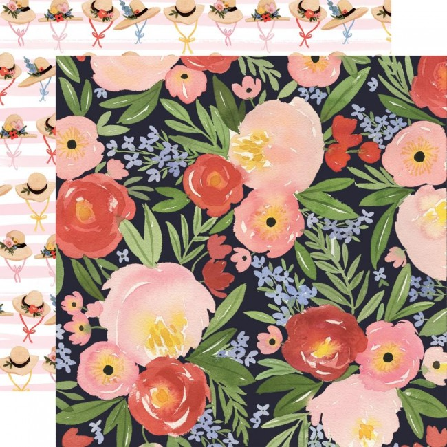 Papel Estampado Doble Cara 12x12 Oh Happy Day Spring Dreamy Floral