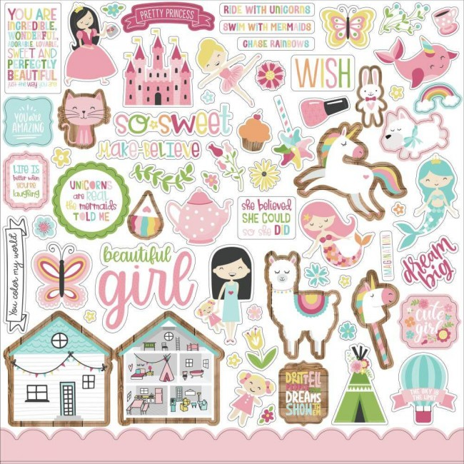 Pegatinas 12x12 All Girl Elements