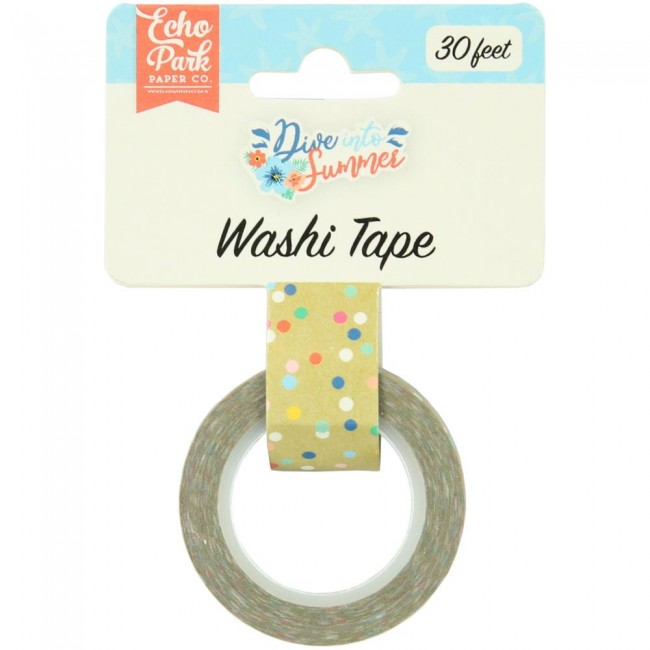 Washi Tape Dive Into Summer Good Vibes Dot