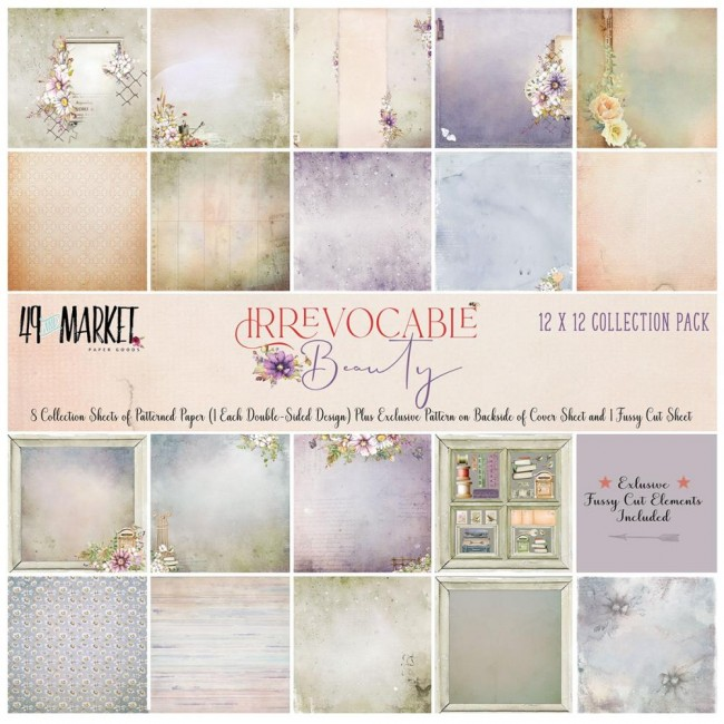 Kit Papeles Estampados 12x12 Irrevocable Beauty