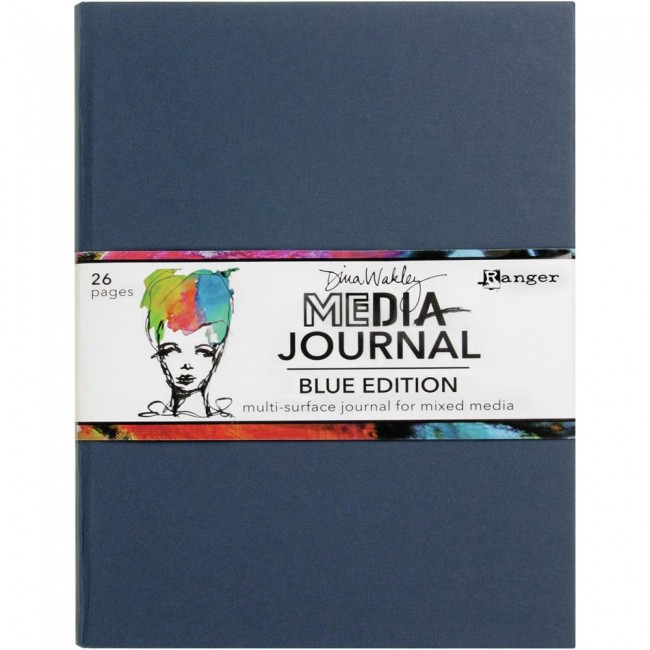 Cuaderno Mixed Media Dina Wakley Blue Edition