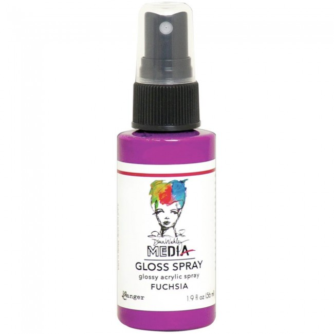 Pintura acrílica Dina Wakley Media Gloss Spray Fuchsia