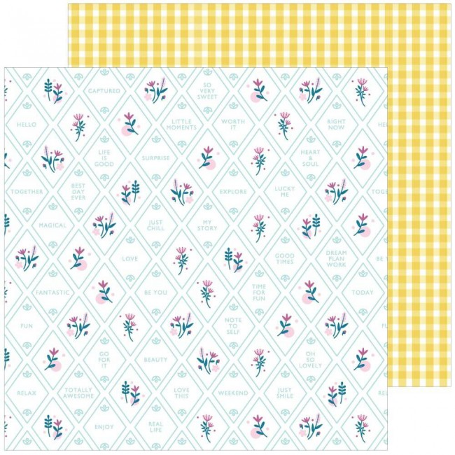 Papel Estampado Doble Cara 12x12 Noteworthy Happy Thoughts