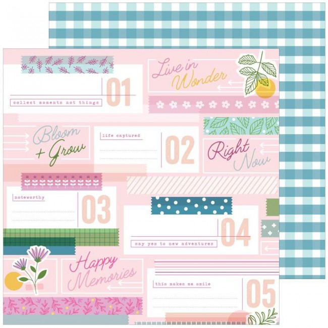 Papel Estampado Doble Cara 12x12 Noteworthy Lovely Moments