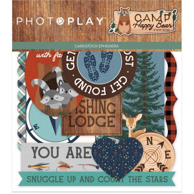 Die Cuts Camp Happy Bear