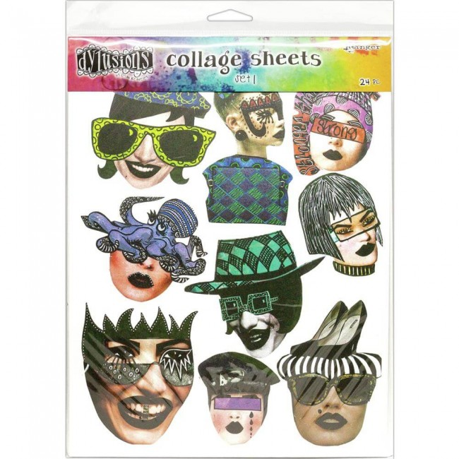 Die Cuts Dyan Reaveley's Dylusions Collage Sheets Set 1