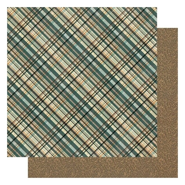 Papel Estampado Doble Cara 12x12 Purebred #1 Multi Color Plaid