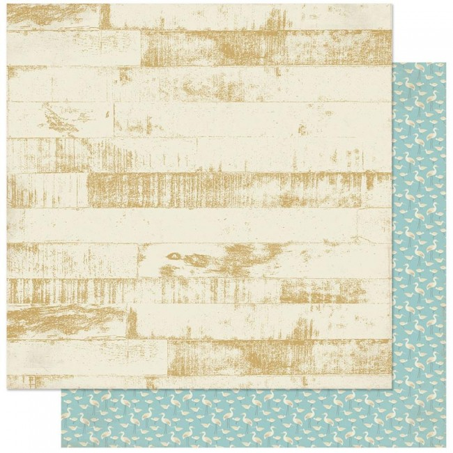 Papel Estampado Doble Cara 12x12 Voyage #3 Beachwood