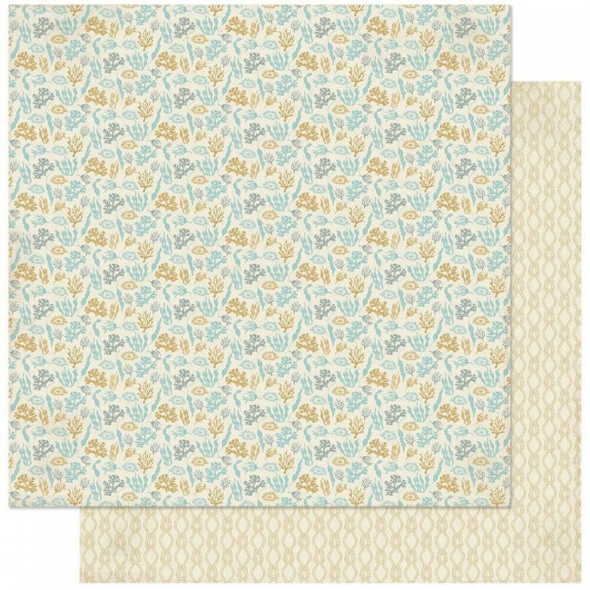 Papel Estampado Doble Cara 12x12 Voyage #8 Sea Plants & Coral