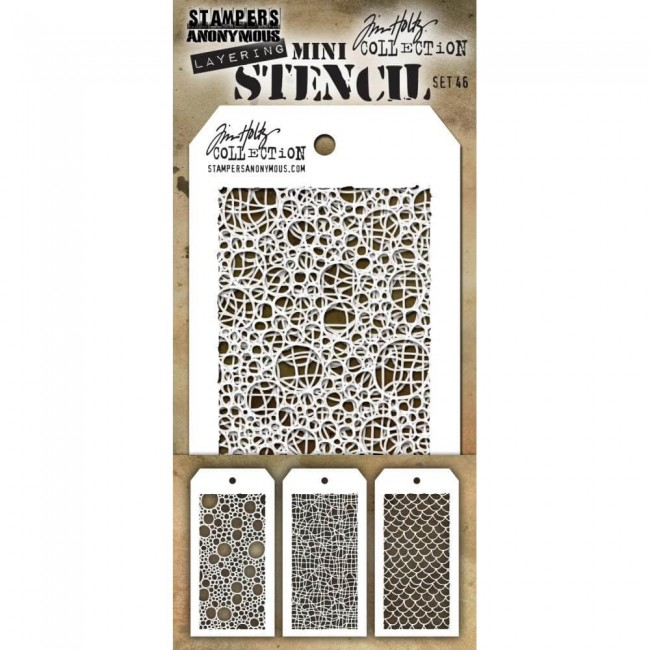 Set Mini Stencil Set #46 Tim Holtz