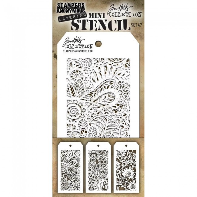 Set Mini Stencil Set #47 Tim Holtz