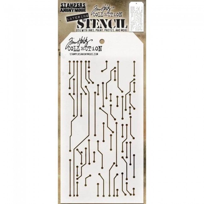 Stencil Circuit  Layered Tim Holtz
