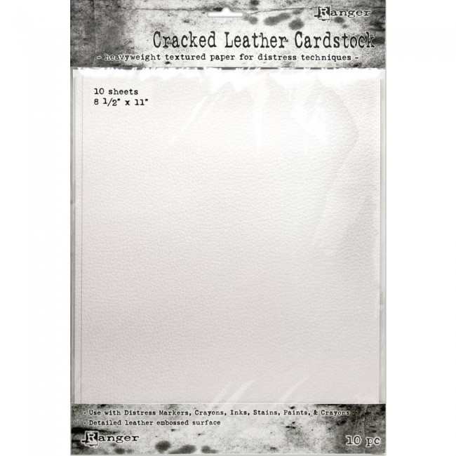 10 Cartulinas 8,5x11 Tim Holtz Distress Cracked Leather