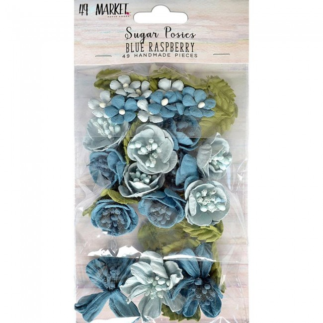 Flores de Papel Sugar Posies Blue Raspberry