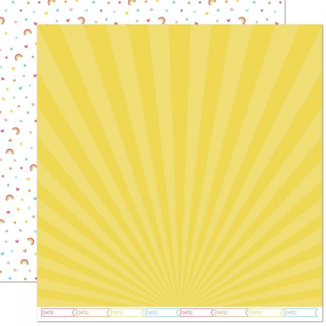 Papel Estampado Doble Cara 12x12 Hello Sunshine Remix April Remix