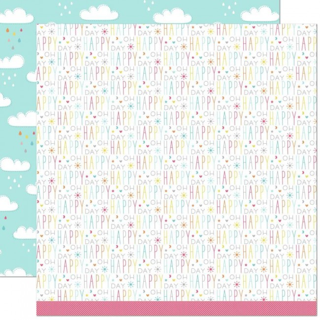 Papel Estampado Doble Cara 12x12 Hello Sunshine Remix Skyler Remix