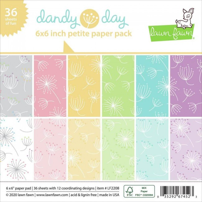 Stack Papeles Estampados 6x6 Una cara Dandy Day