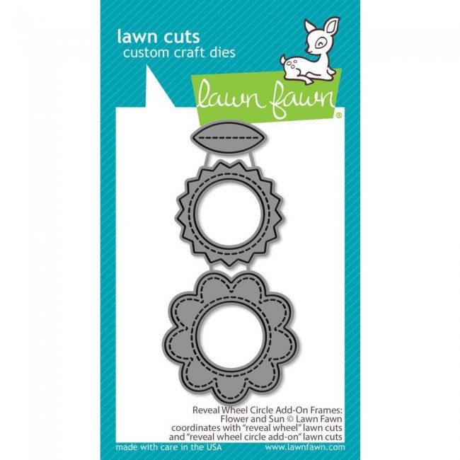 Troquel Lawn Cuts Reveal Wheel Add-On Flower & Sun