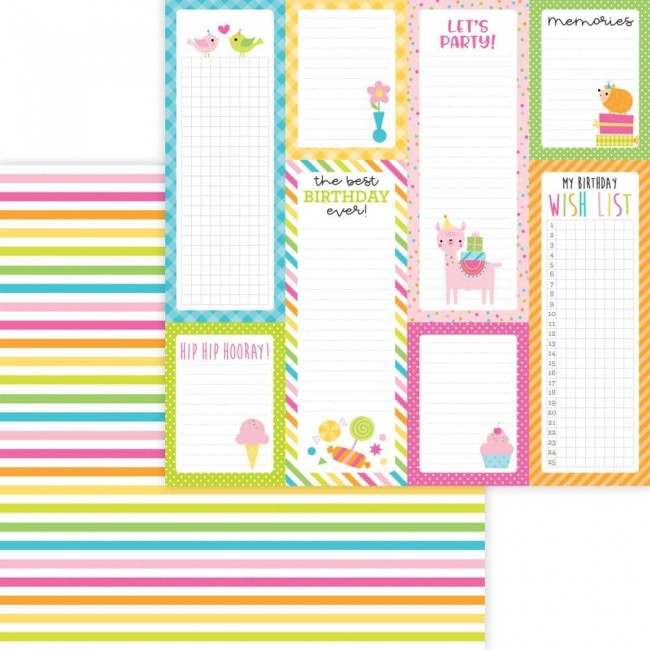 Papel Estampado Doble Cara 12x12 Hey Cupcake Sunda