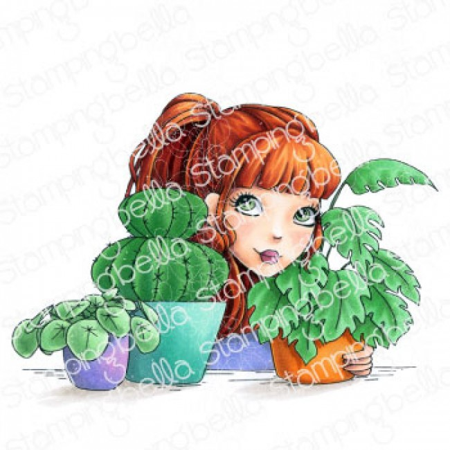 Sello de Caucho Mochi Plant Girl