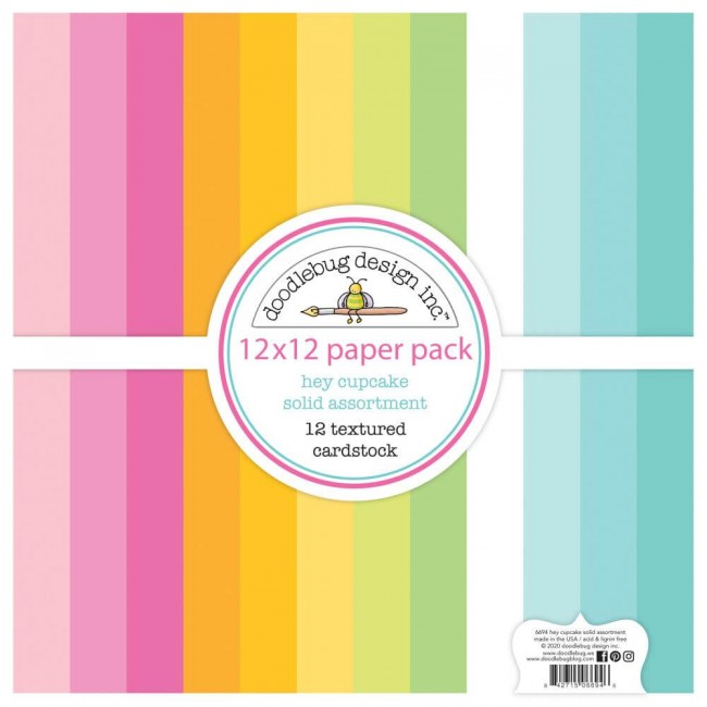Kit Cartulinas 12x12 Hey Cupcake