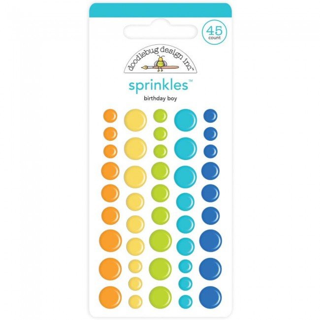 Enamel Dots Party Time Birthday Boy Assortment