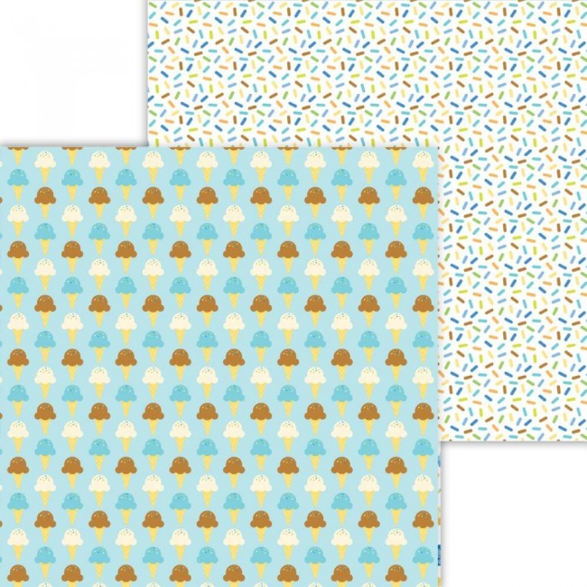 Papel Estampado Doble Cara 12x12 Party Time Here's The Scoop